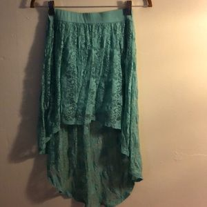Lace Teal Skirt Size M